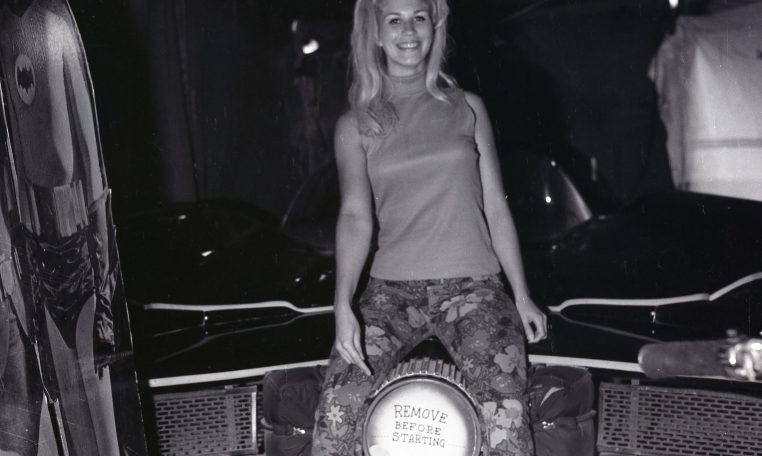 Fan Stephanie Rose with the car in 1967