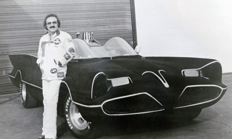 George Barris and the #2 car when it was flocked