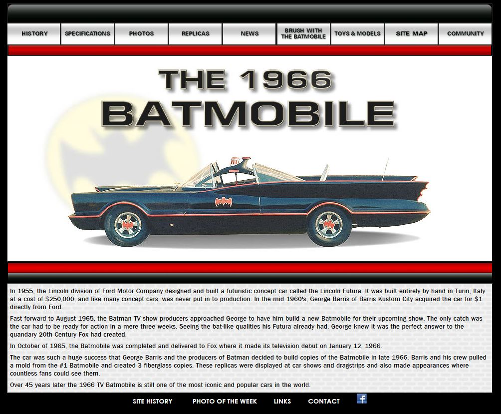 The 1966 batmobile website new look classic tv series for Find and design tv show